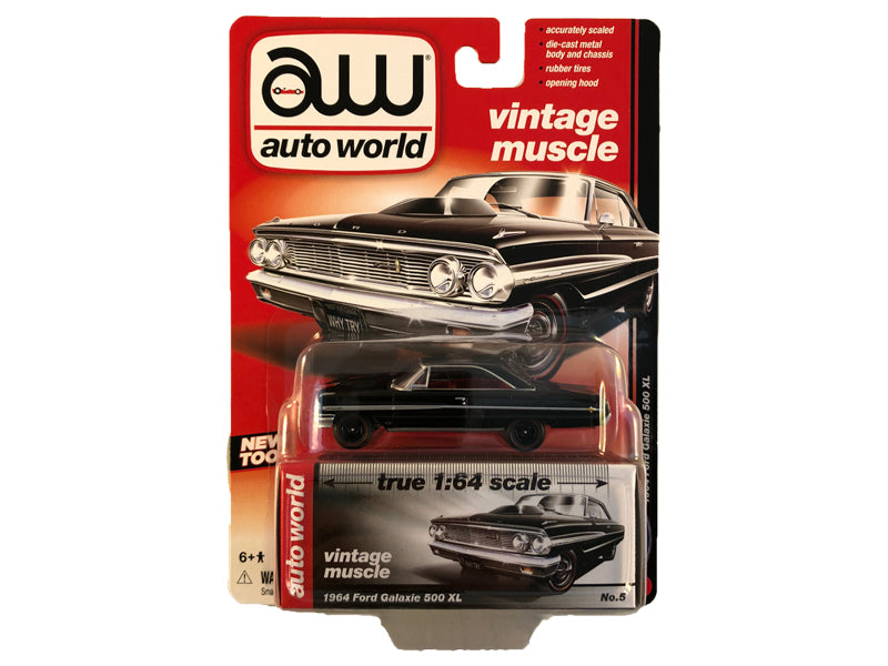 1964 Ford Galaxie 500 Muscle Cars Release 5B 1:64 Scale Diecast Model Car - Autoworld - AW64042