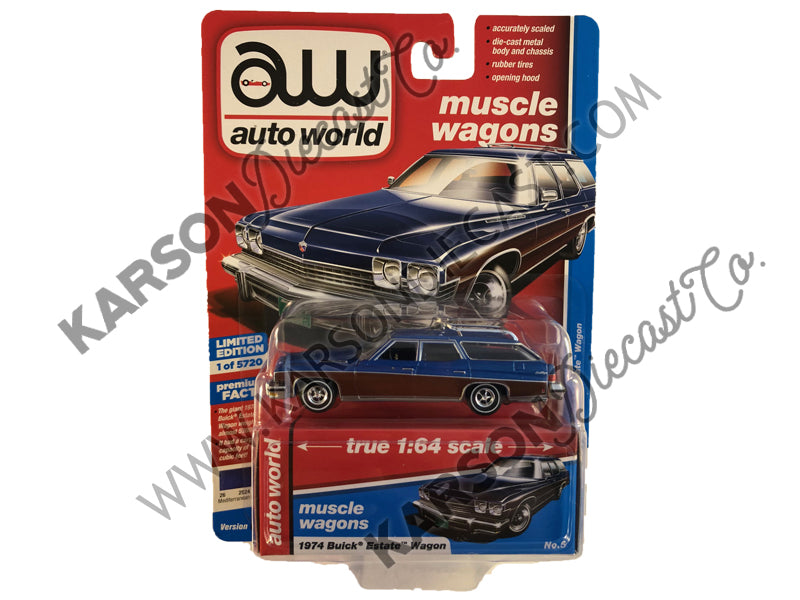 1974 Buick Estate Wagon Premium 2019 Release 2A 1:64 Scale Model - Autoworld - AW64222A