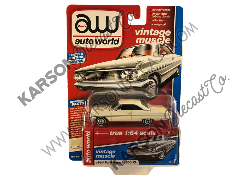 1964 Ford Galaxie 500 XL Premium 2019 Release 2A 1:64 Scale Model - Autoworld - AW64222A