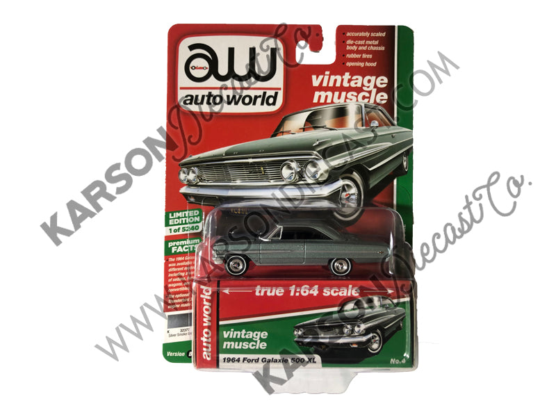 1964 Ford Galaxie 500 XL Premium 2019 Release 2B 1:64 Scale Model - Autoworld - AW64222B-FORD