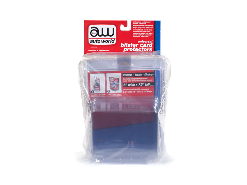 Universal Blister Card Protector 6 Packs for 1/64 Scale Models - Autoworld - AWDC013