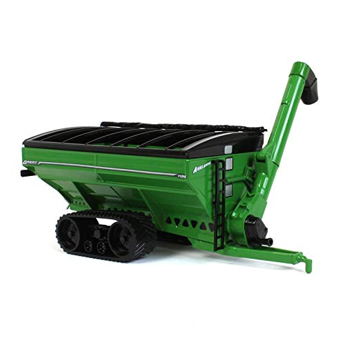 Brent Avalanche 1196 Green Grain Cart on Tracks 1/64 Scale Diecast- Speccast - Cust1210