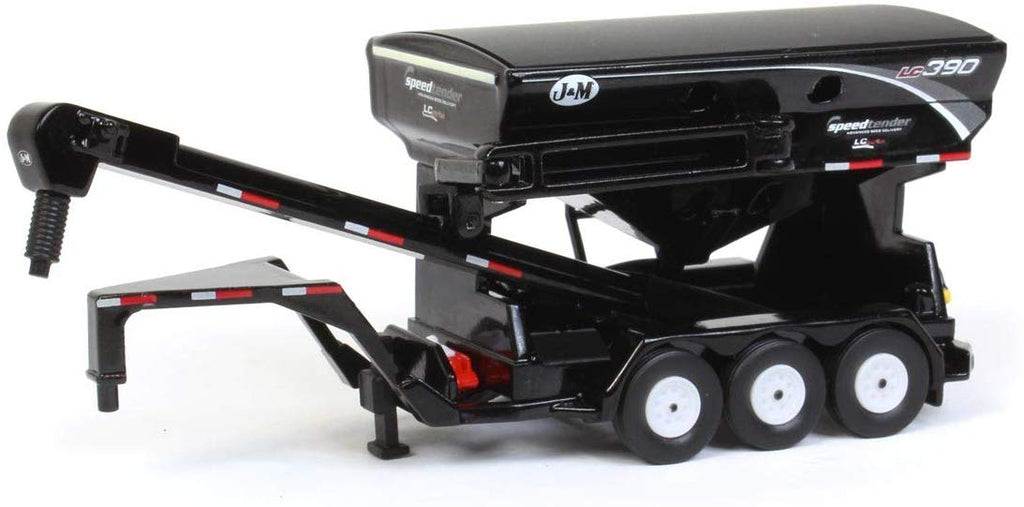 J&M 390 Black Goosneck Seed Tender w Triples 1/64 Scale Diecast - Speccast - CUST1715
