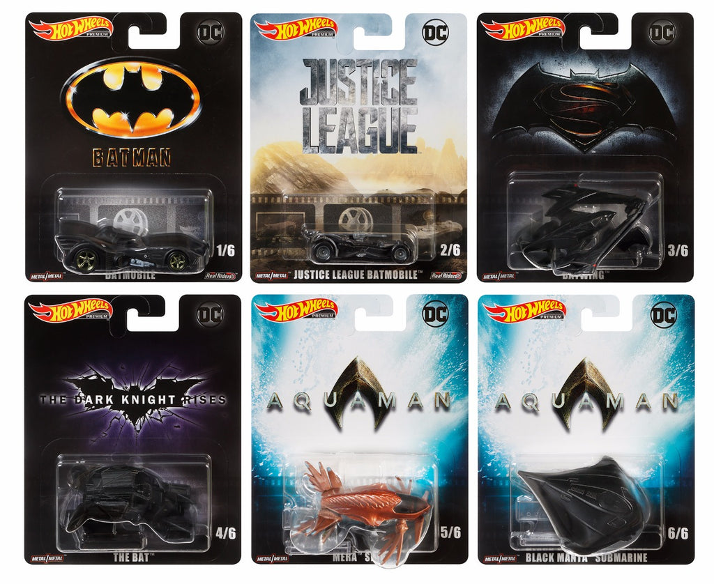 Retro Entertainment - DC Cinematic Vehicle Assortment (6 Styles) 1:64 Scale Diecast - Hotwheels - DMC55-956L