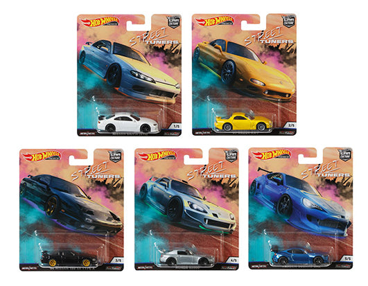 Car Culture 2019 Street Tuners Set Of 5 ( L ) Case 1:64 Scale Diecast Car Model - Hot Wheels - FPY86-956L