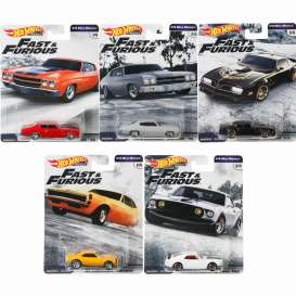 "Hot Wheels 1:64 Scale Premium Series ""C"" Case - Fast & Furious 1/4 Mile Muscle - Hot Wheels - GBW75-956C"