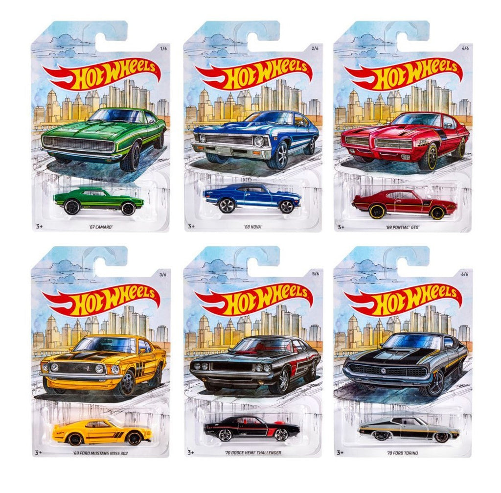 Walmart Exclusive Detroit Muscle Sealed Case of 10 1/64 Diecast Cars - Hot Wheels - GDG44-999D