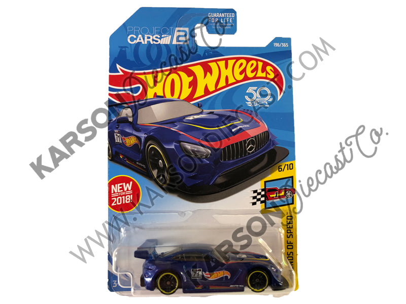 2016 Mercedes AMG GT3 50th Anniversary Legends of Speed - Hot Wheels - L2593-982M