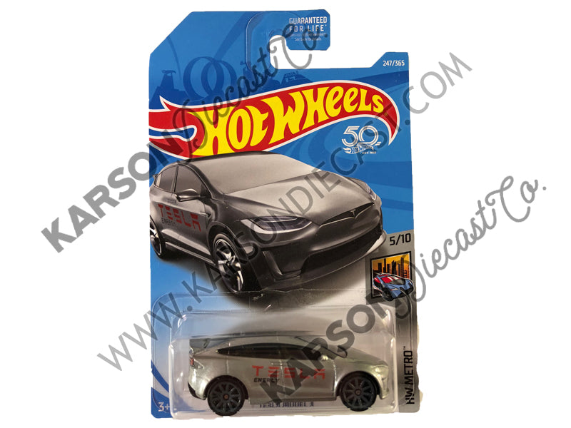 Tesla Model X 50th Anniversary Metro - Hot Wheels - L2593-982M