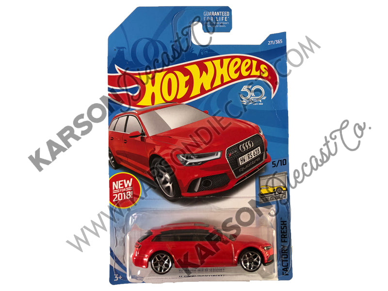 2017 Audi RS 6 Avant 50th Anniversary Factory Fresh - Hot Wheels - L2593-982M