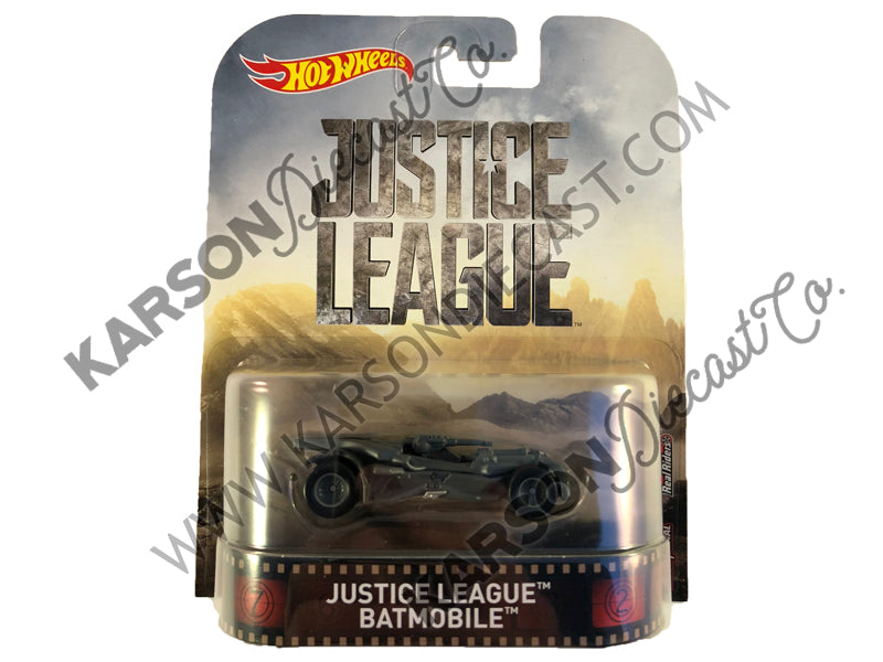 Retro Entertainment Justice League Batmobile 1:64 Scale - Hotwheels - FVD03-956A