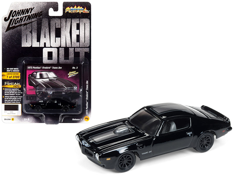 1973 Pontiac Firebird Trans Am Gloss Black 1:64 Diecast Model