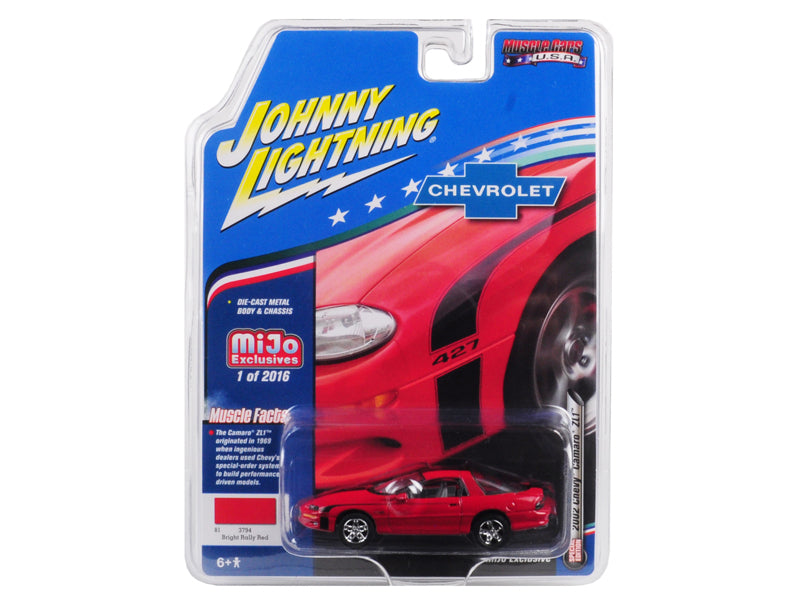 "2002 Chevrolet Camaro ZL1 427 Red ""Muscle Cars USA"" Limited Edition to 2,016 pieces Worldwide 1:64 Diecast Model Car - Johnny Lightning - JLCP7138"