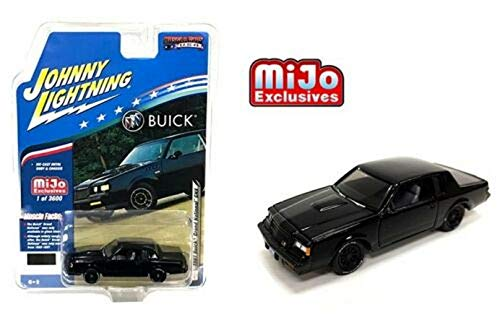 1987 Buick Grand National GNX Exclusive 1:64 Black - Johnny Lightning - JLCP7178
