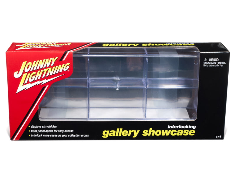 6 Car Interlocking Acrylic Display Show Case for 1/64 Scale Model Cars - Johnny Lightning - JLDC001