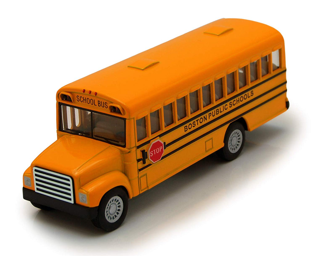 "Boston City School Bus - Kinsmart 5"" P/B - KS5017BS"