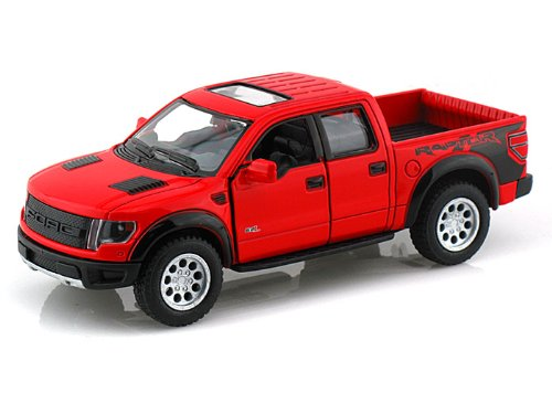 2013 Ford F-150 SVT Red Raptor Diecast Model Pullback - Kinsmart - KT5365