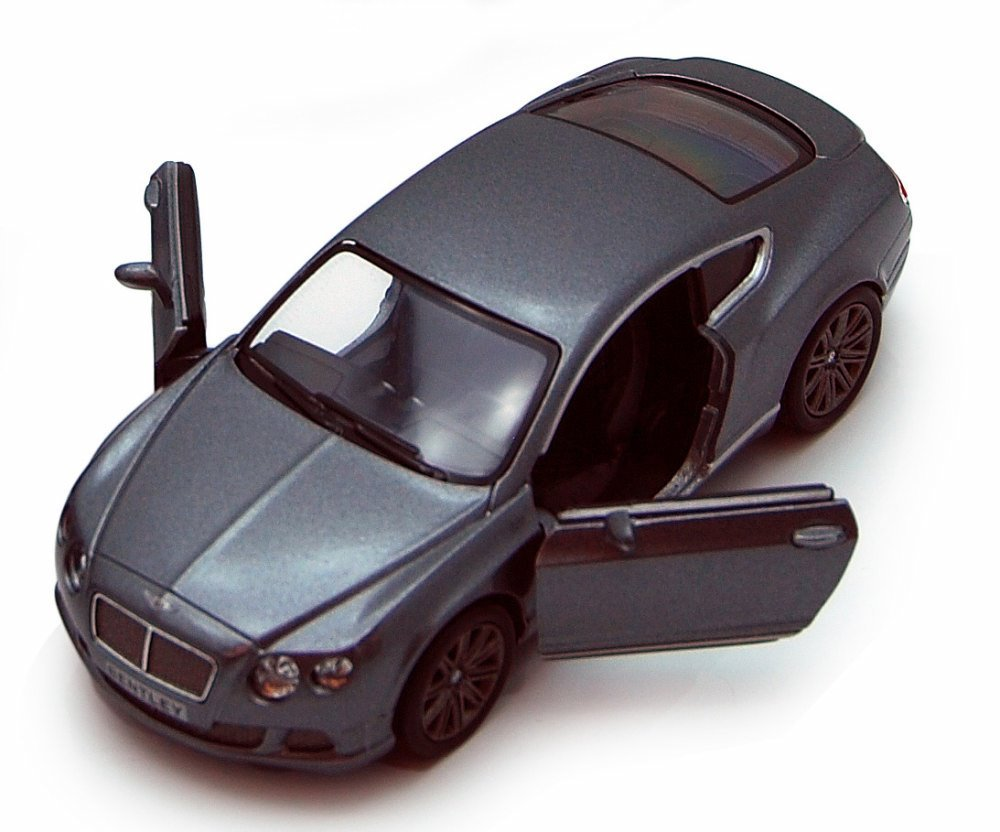 2012 Bentley Continental GT Diecast Model Gray 1:38 Scale Pullback - Kinsmart - KT5369GRY