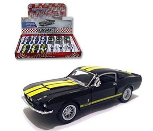 "1967 Shelby GT-500 Black With Strips 4.5"" Diecast Model"