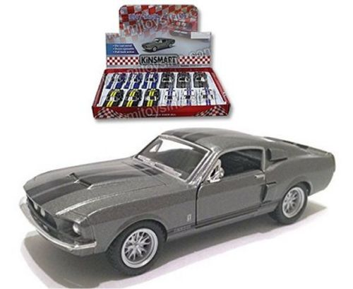 "1967 Shelby GT-500 Gray With Strips 4.5"" Diecast Model"