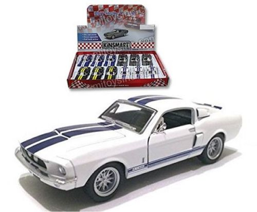 "1967 Shelby GT-500 White With Strips 4.5"" Diecast Model"