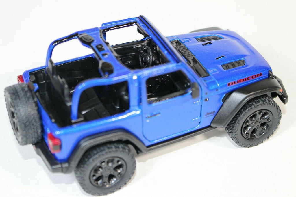 2018 Jeep Wrangler Rubicon Model Blue No Top Pullback - Kinsmart  - KT5412DABL