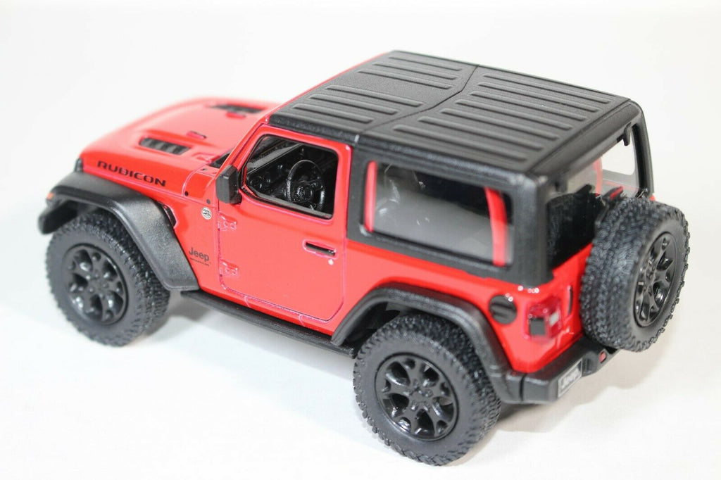 2018 Jeep Wrangler Rubicon Model Hard Top Red Pullback - Kinsmart - KT5412DBRD