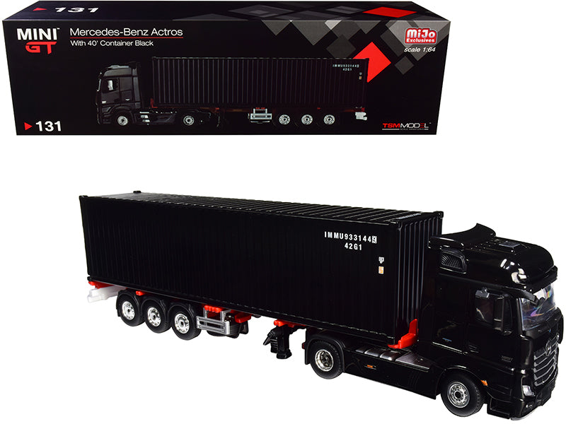 Mercedes Benz Actros w/ Trailer and 40' Container 1:64 Diecast Model - True Scale Miniatures MGT00131