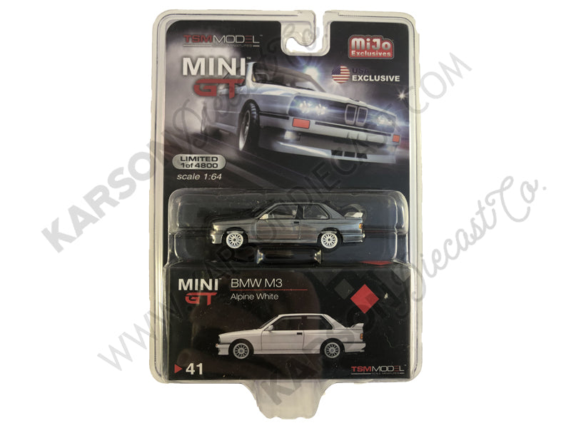 BMW M3 (E30) Alpine White Limited Edition to 4,800 pieces Worldwide 1:64 Diecast Model Car - True Scale Miniatures - MGT00041 - SILVER CHASE