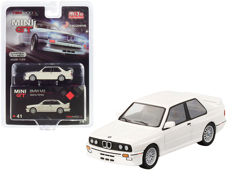 BMW M3 (E30) Alpine White Limited Edition to 4,800 pieces Worldwide 1/64 Diecast Model Car - True Scale Miniatures - MGT00041
