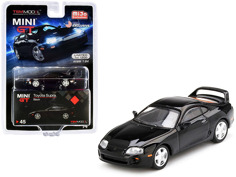 Toyota Supra (JZA80) Black Limited Edition 1:64 Diecast Model Car - True Scale Miniatures - MGT00045
