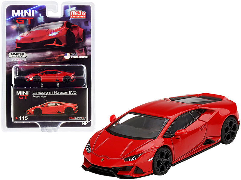 Lamborghini Huracan EVO Rosso Mars Red Limited Edition to 2400 pieces Worldwide 1:64 Diecast Model Car - True Scale Miniatures MGT00115