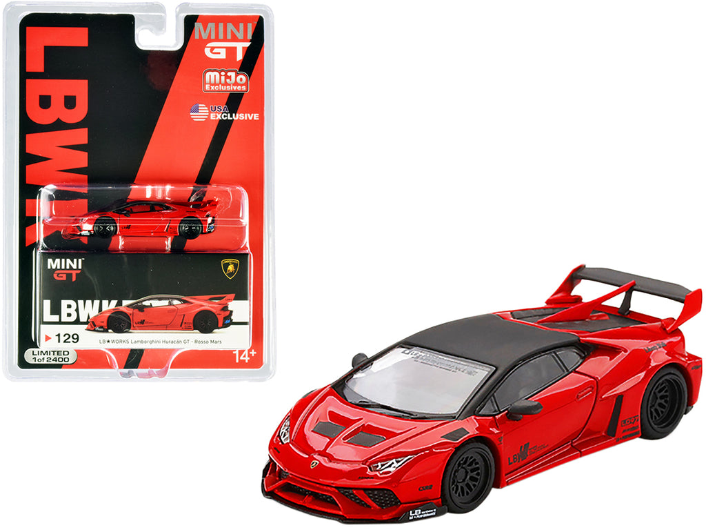 Lamborghini Huracan GT Limited Edition to 2,400 pieces Worldwide Red 1:64 Diecast Model Car - True Scale Miniatures - MGT00129