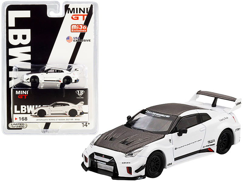 Nissan 35GT-RR Ver. 1 LB-Silhouette WORKS GT White and Carbon Limited Edition to 2400 pieces Worldwide 1:64 Diecast Model Car - True Scale Miniatures - MGT00168