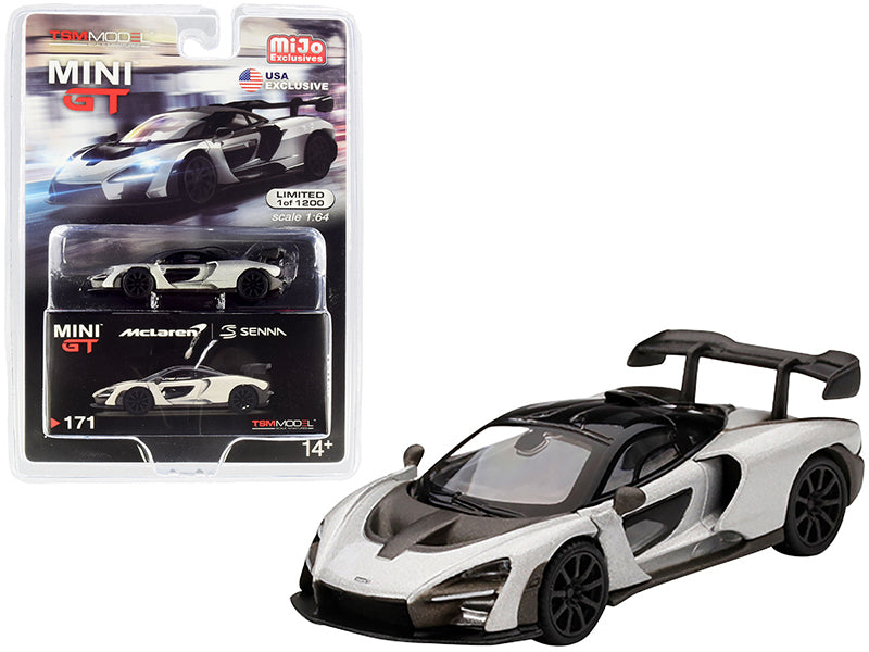 McLaren Senna Silver Limited Edition to 1200 pieces Worldwide 1:64 Diecast Model Car - True Scale Miniatures - MGT00171