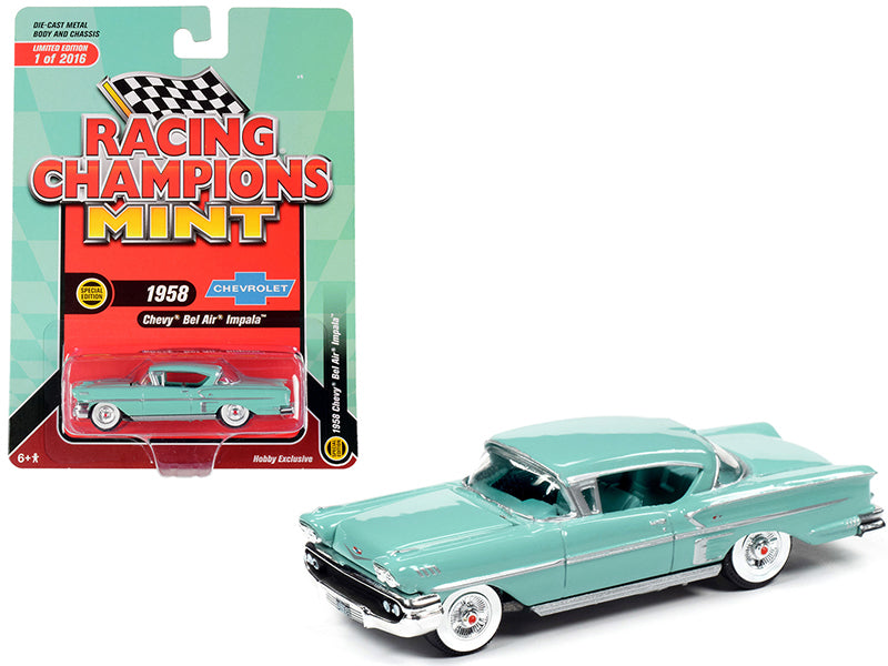 1958 Chevrolet Bel Air Impala Hardtop Glen Green Limited Edition to 2,016 Worldwide 1:64 Diecast Model - Racing Champions RCSP013