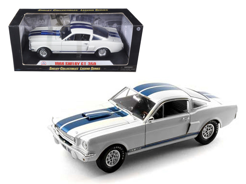 1966 Ford Shelby Mustang GT 350 White 1:18 Diecast Model - Shelby Collectibles - 160WH
