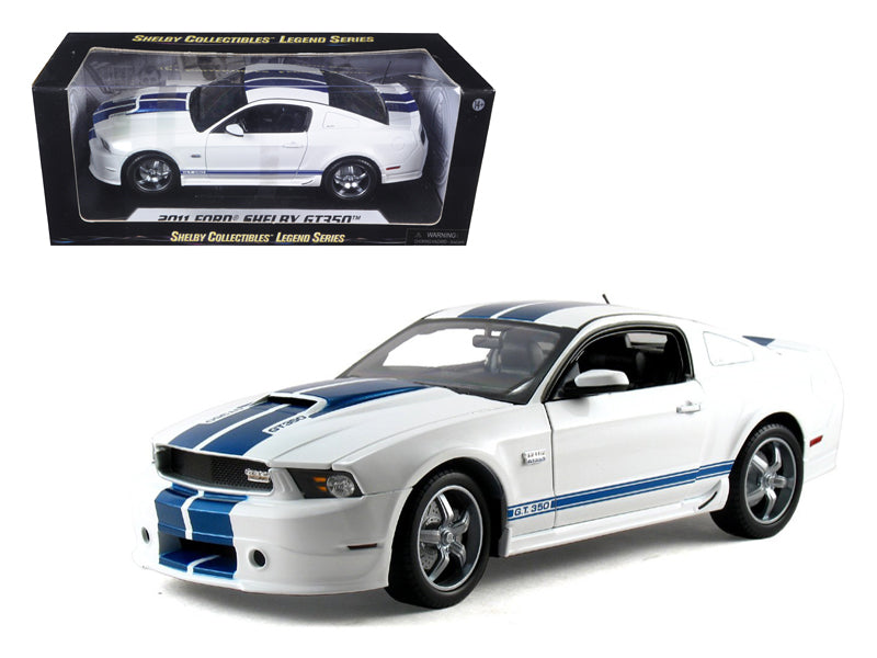 2011 Ford Shelby Mustang GT350 White 1:18 Diecast Model Car - Shelby Collectables - 351WH