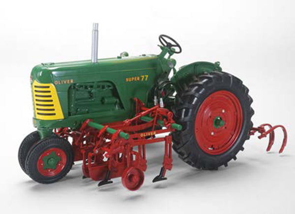 Oliver Super 77 Diesel Narrow-Front Tractor with 2-Row Cultivator 1:16 Scale Diecast Model - Speccast - SCT702