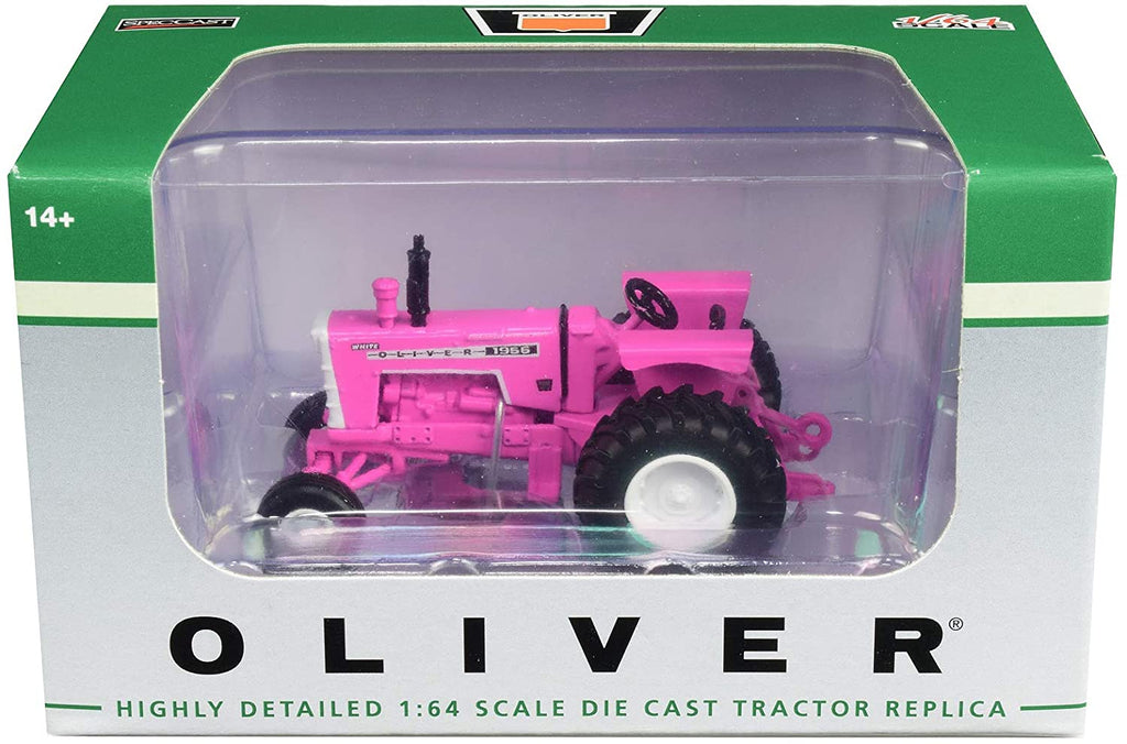 Oliver 1955 Wide Front Tractor Pink 1:64 Diecast Model - Spec Cast - SCT713