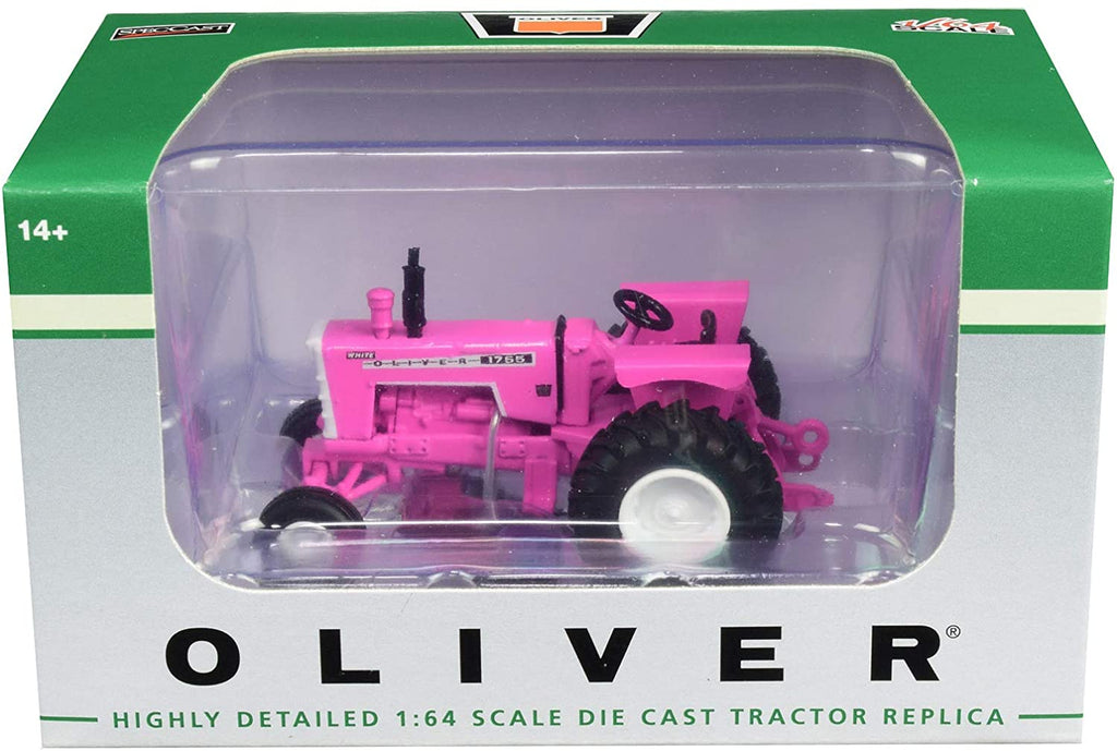 Oliver 1755 Wide Front Tractor Pink 1:64 Diecast Model - Spec Cast - SCT714
