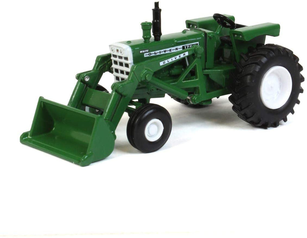 Oliver 1755 with Front End Loader 1:64 Diecast Model Tractor - Spec Cast - SCT734