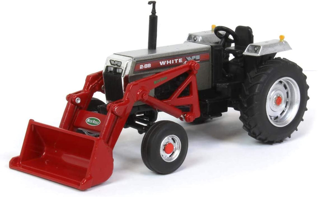 White 2-88 Wide-Front Open-Station Tractor with Loader 1:64 Diecast Model - Speccast - SCT746