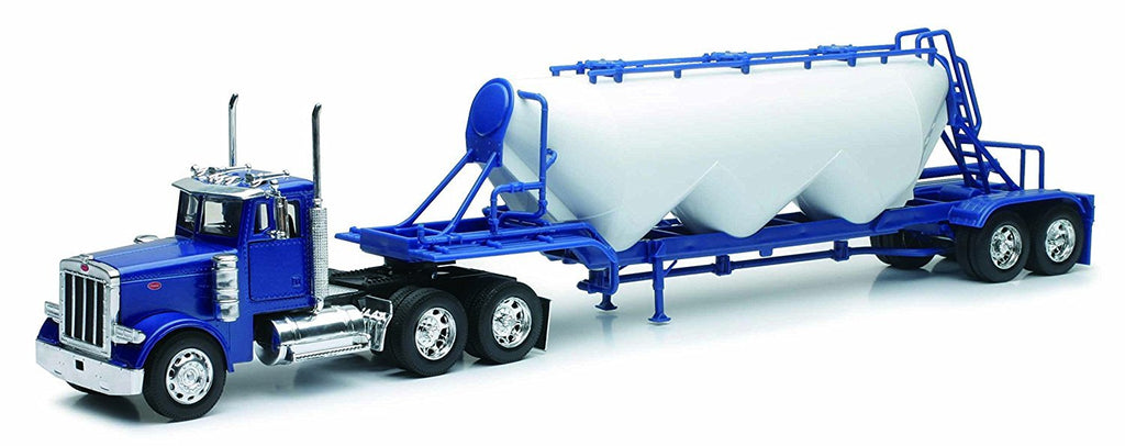 Peterbilt 379 Pneumatic Dry Bulk Trailer Long Haul 1:32 Diecast Model - New Ray - SS10583