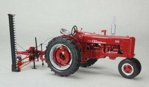 Case IH Farmall 300 Narrow Front Tractor w/ Sickle Mower 1:16 - ZJD1803 - by SpecCast