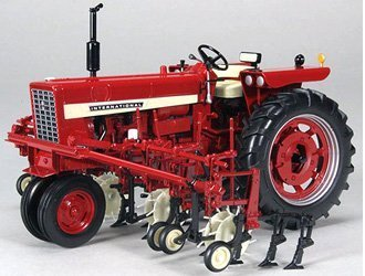 International 504 Narrow Front w/ 4 Row Cultivator 1:16 Diecast Model Tractor - SpecCast - ZJD1812