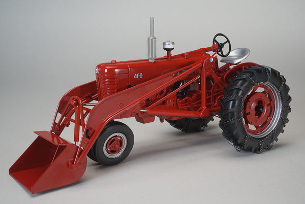 Farmall 400 Tractor w/ Loader and Tire Chains 1:16 Diecast Model - Speccast - ZJD1819