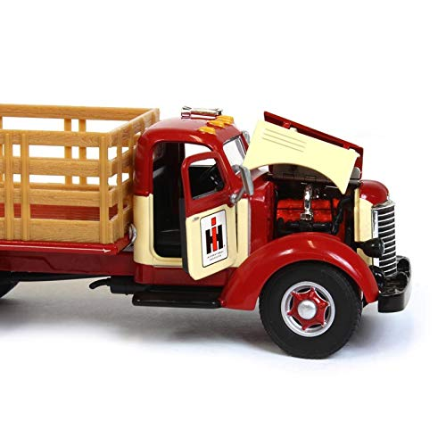 International KB-8 International Harvester Stake Bed Truck Red & Cream 1/50 Scale Diecast Model - Speccast - ZJD1846