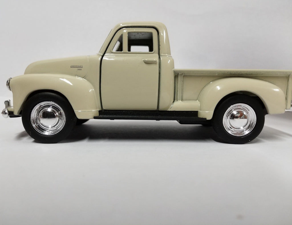 "1953 Chevrolet 3100 Pickup Truck Cream 5"" Diecast Model - Welly 43708CRM"