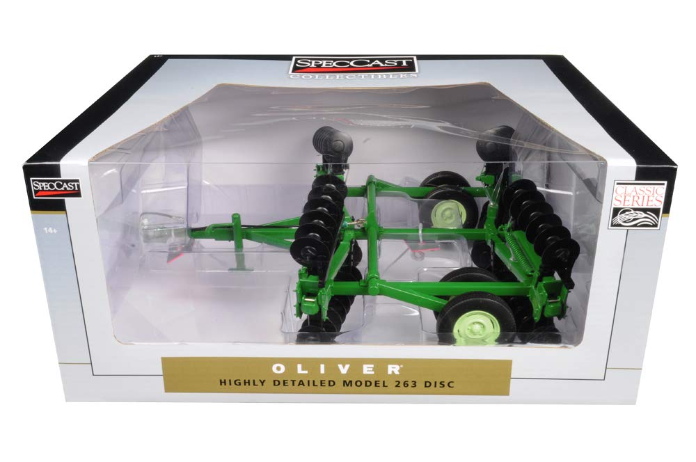 Oliver 263 Disc Harrow w/ Folding Wings Classic Series 1:16 Diecast Model - Speccast - SCT690